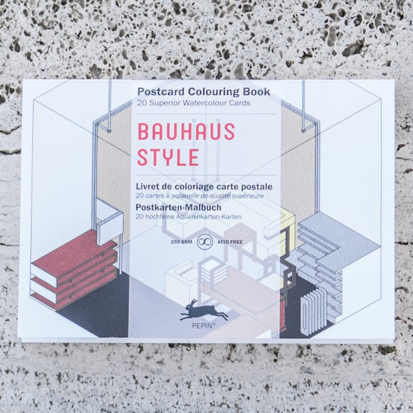POSTCARD COLOURING BOOK BAUHAUS STYLE
