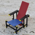 RIETVELD RED AND BLUE CHAIR MINIATURE