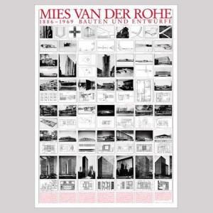 MIES VAN DER ROHE 1886-1969 POSTER