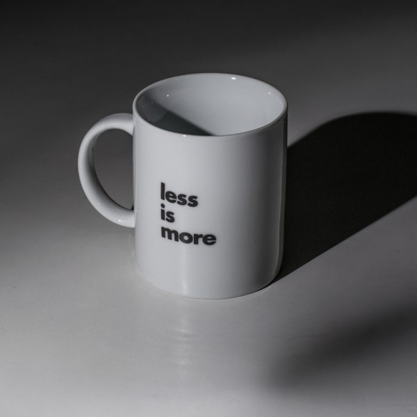 Less Is More.Less Is More Mug