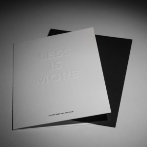LESS IS MORE CARD