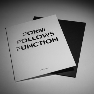 FORM FOLLOWS FUNCTION CARD